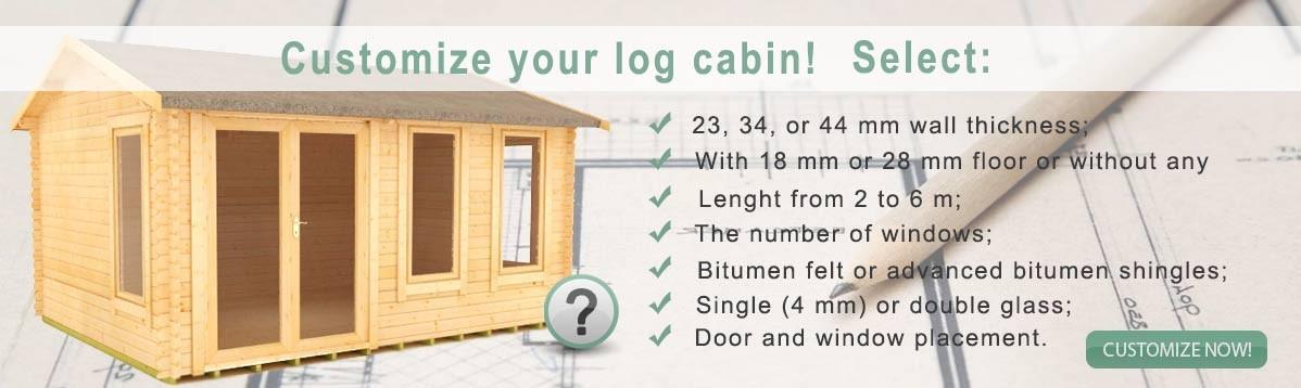 Log cabin customization