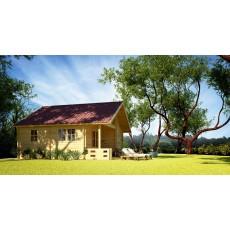 5,8 x 5,8 m Residential Log Cabin (68 mm)